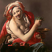 Bacchante With An Ape Poster