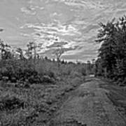 Back Road At Sunset Pocono Mountains Pennsylvania Poster