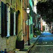Back Street In Charleston Poster