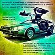 Back to the DeLorean Poster