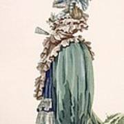 Back View Of Ladys Dress, Engraved Poster