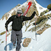 Backcountry Skiing, Citadel Peak, Co Poster