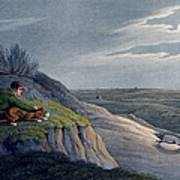 Badger Catching, 1820 Poster