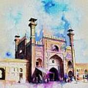 Badshahi Mosque Gate Poster by Catf