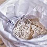 Bag Of Flour With Scoop Poster
