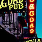 Bagdad Pub Poster by Gail Lawnicki