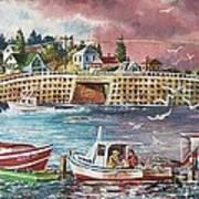 Bailey Island Cribstone Bridge Poster by Joy Nichols