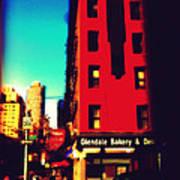 The Bakery - New York City Street Scene Poster