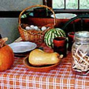 Baking A Squash And Pumpkin Pie Poster by Susan Savad
