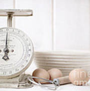 Baking Time Vintage Kitchen Scale Poster