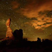 Balanced Rock And The Milky Way Poster