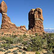 Balanced Rock Arches National Park Utah Poster
