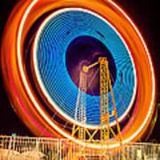 Balboa Fun Zone Ferris Wheel At Night Picture Poster