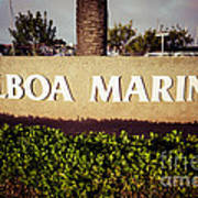 Balboa Marina Sign Newport Beach Picture Poster by Paul Velgos