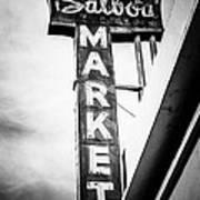 Balboa Market Sign Orange County California Photo Poster