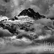 Balck And White Tantalus Peaks Poster