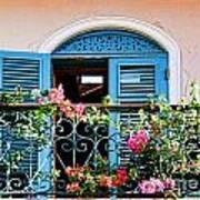 Balcony Blue By Diana Sainz Poster