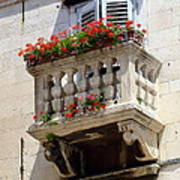 Balcony In Split Croatia Poster