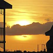 Key West Balcony Sunset Poster
