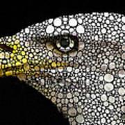 Bald Eagle Art - Eagle Eye - Stone Rock'd Art Poster by Sharon Cummings