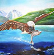 Bald Eagle Having Dinner Poster
