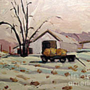 Bale Wagon  Poster by Charlie Spear