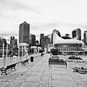 balentien pier canada place and Vancouver waterfront skyline BC Canada Poster by Joe Fox