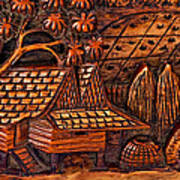 Bali Wood Carving Poster