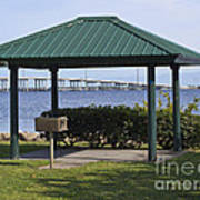 Ballard Park On The Eau Gallie River In Melbourne Florida Poster