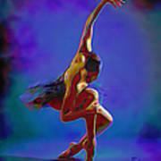 Ballerina On Point Poster