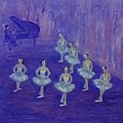 Ballerina Rehearsal Poster