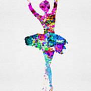 Ballerina Watercolor 1 Poster