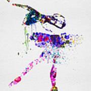 Ballerina Watercolor 2 Poster
