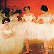 Ballerinas Resting Poster by Pg Reproductions