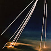 Ballistic Missile Paths Poster