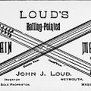 Ballpoint Pen, 1888 Poster