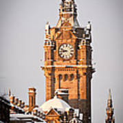 Balmoral Hotel Clock Tower Poster