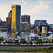 Baltimore Harbor Skyline Panorama Poster