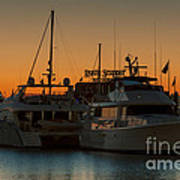 Baltimore Inner Harbor Marina At Dawn I Poster