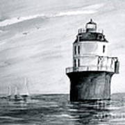 Baltimore Lighthouse In Gray  Poster