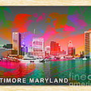 Baltimore Maryland Skyline Poster