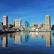 Baltimore Skyline From The Innner Harbor Poster