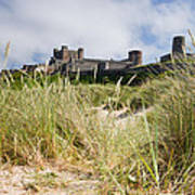Bamburgh Castle From The Dunes Poster