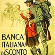 Banca Italiana Di Sconto, 1917 Poster