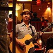 Band At Palaad Tawanron Restaurant - Chiang Mai Thailand - 01133 Poster