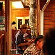 Band At Palaad Tawanron Restaurant - Chiang Mai Thailand - 01135 Poster