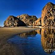 Bandon Low Tide Reflections Poster