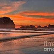 Bandon Sunset And Surf Poster