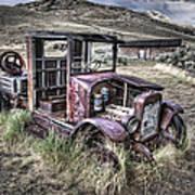 Bannack Ghost Town Truck - Montana Poster