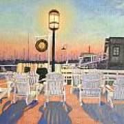 Bannister's Wharf Newport Ri Poster by Betty Ann Morris